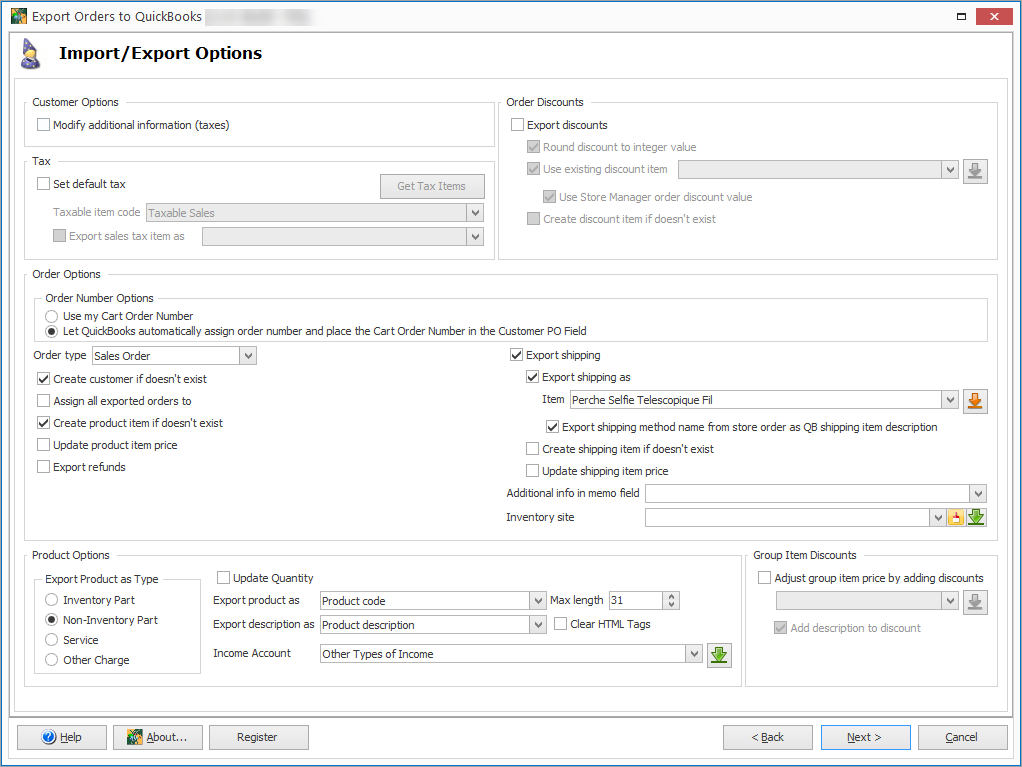 Export Orders Import Export Options Create Customer If Not Exist