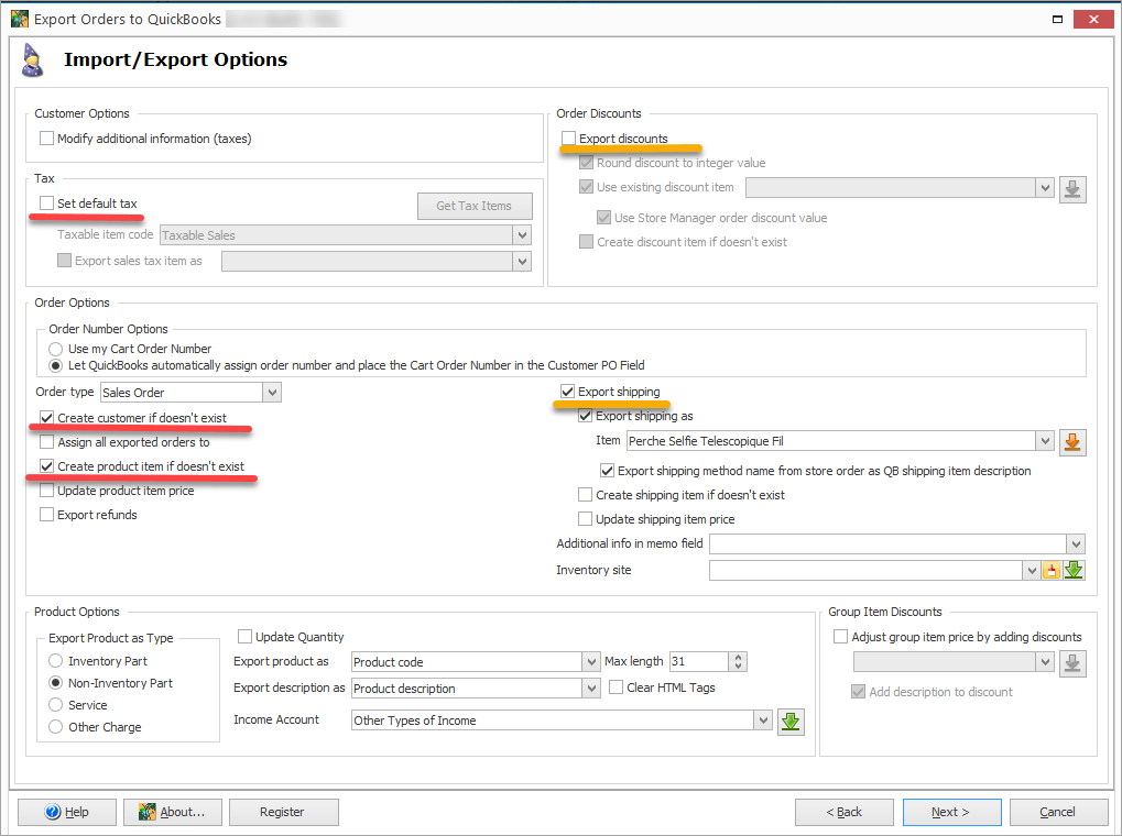 Export Orders Import Export Options Top Features
