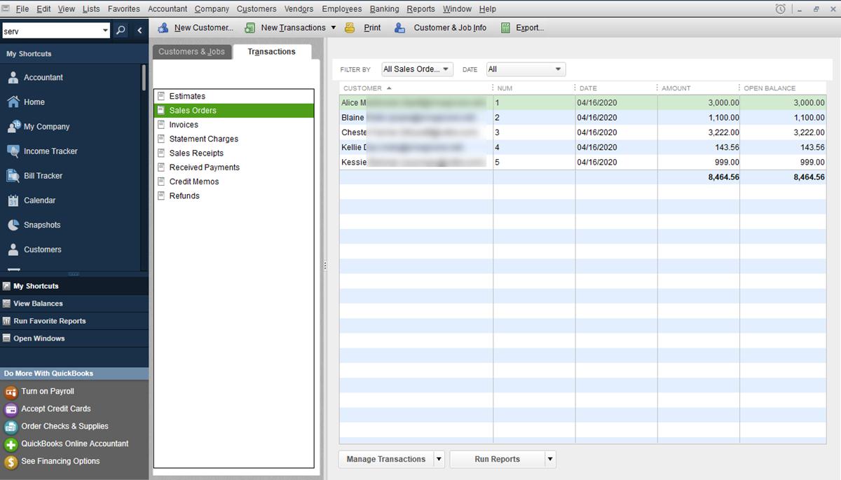 Orders Exported to QuickBooks Desktop