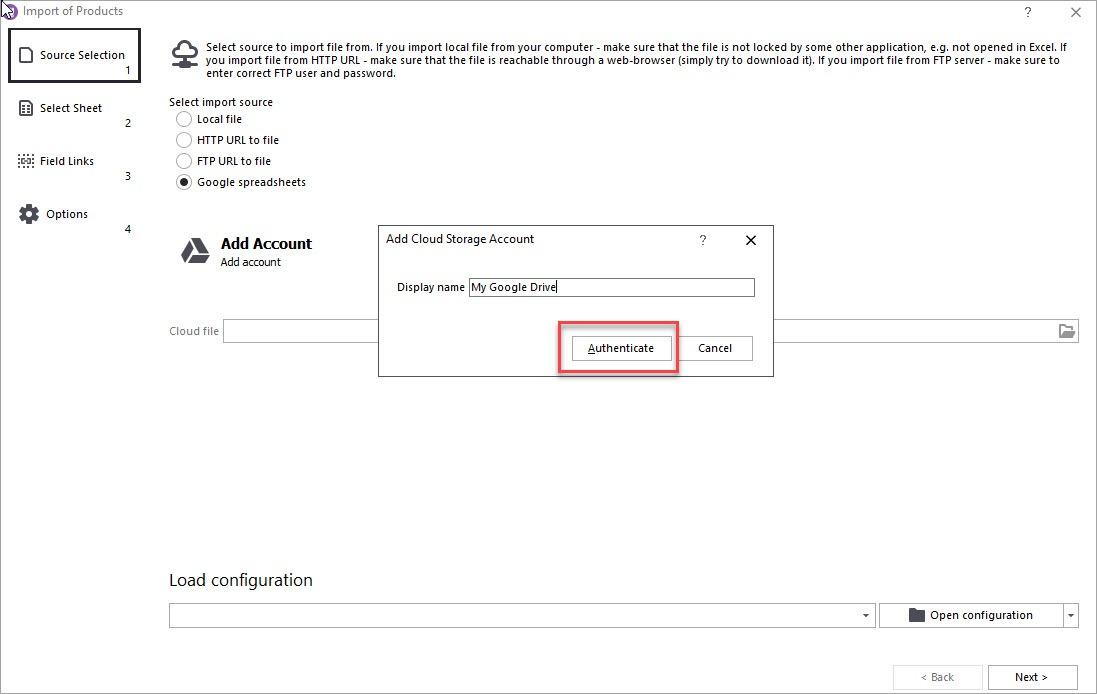 WooCommerce Cloud Import Authenticate