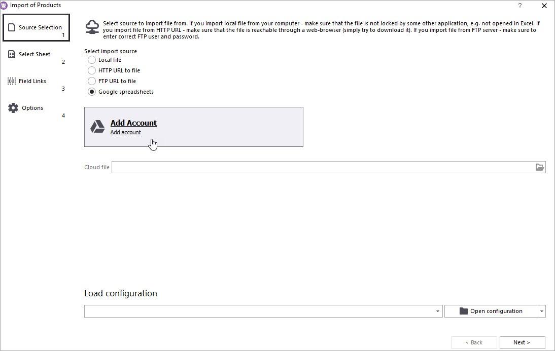 WooCommerce Import Add Cloud Account