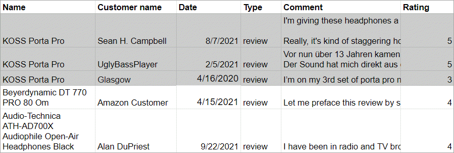 WooCommerce Review Import File