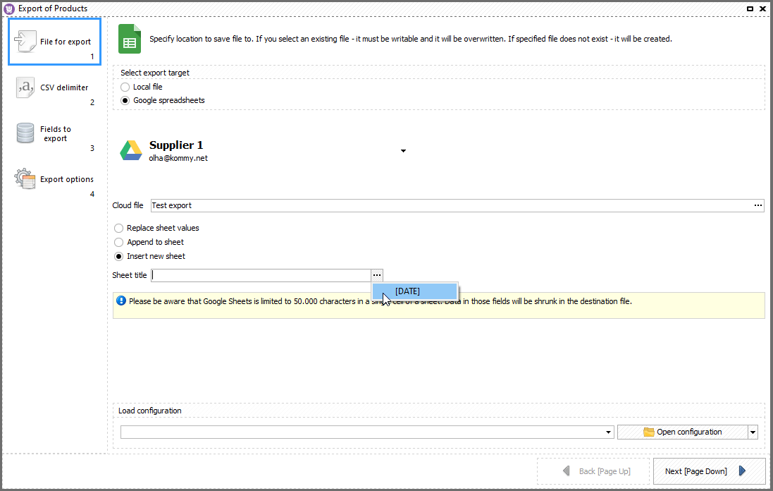 WooCommerce Store Manager Product Google Sheet Export Date Macro
