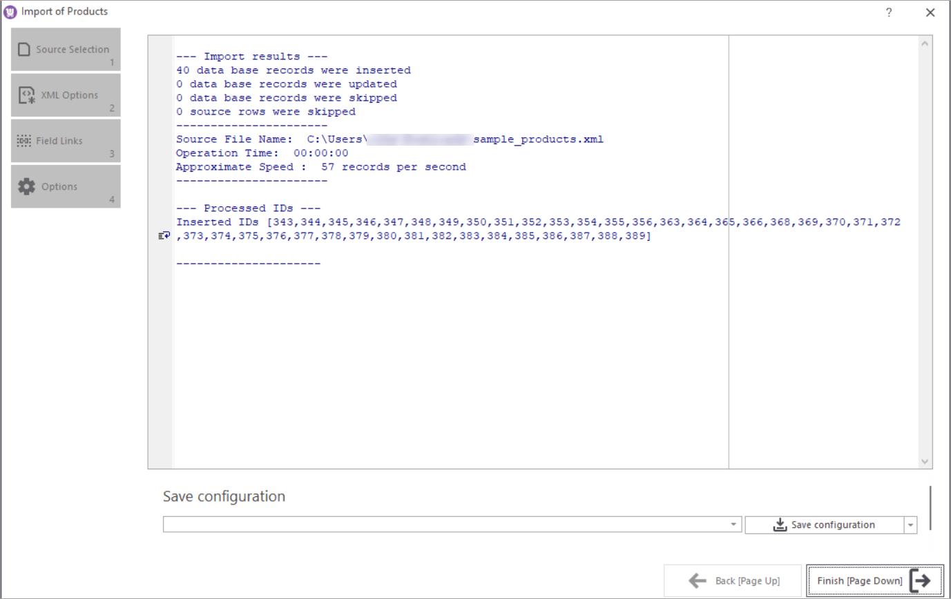 WooCommerce Store Manager XML Import Log