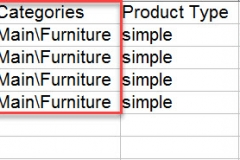 woocommerce category path in the import file