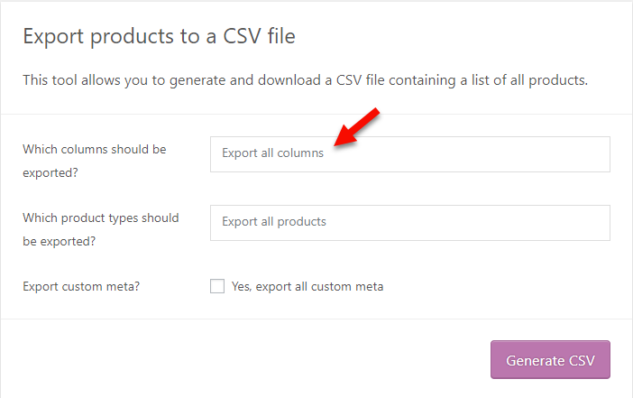 export-woocommerce-attributes-from-admin-settings