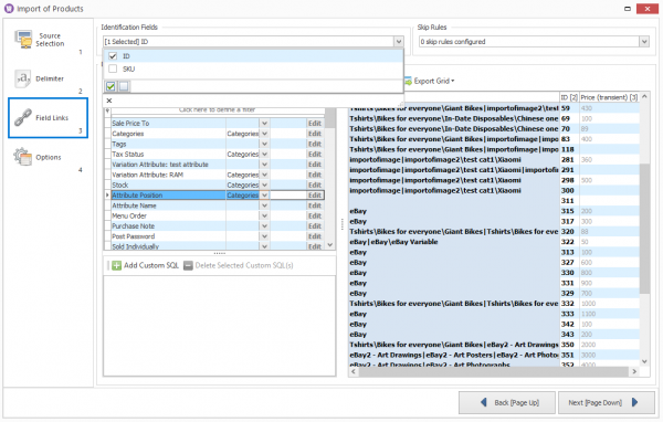 assing-database-fields-to-excel-import-fileds