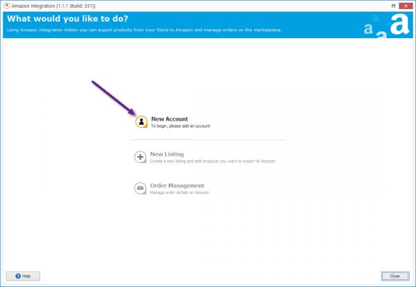 Add Account To WooCommerce Amazon Integration