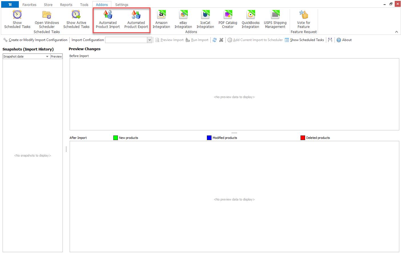 woocommerce scheduled data management