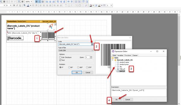 Edit WooCommerce Barcode Labels Code
