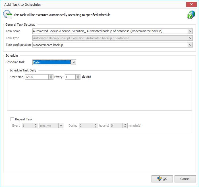 woocommerce automated backup scheduler