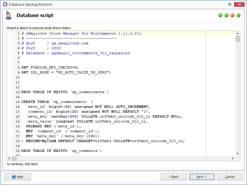 woocommerce restore script